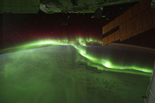 Northern Lights from above