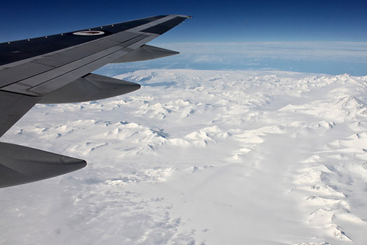 Antarctica from the sky