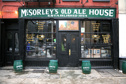 McSorley's Old Ale House, East Village, New York City