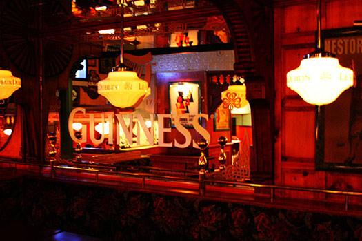 Inside the Le Vieux Dublin Pub & Restaurant, Montréal, Canada