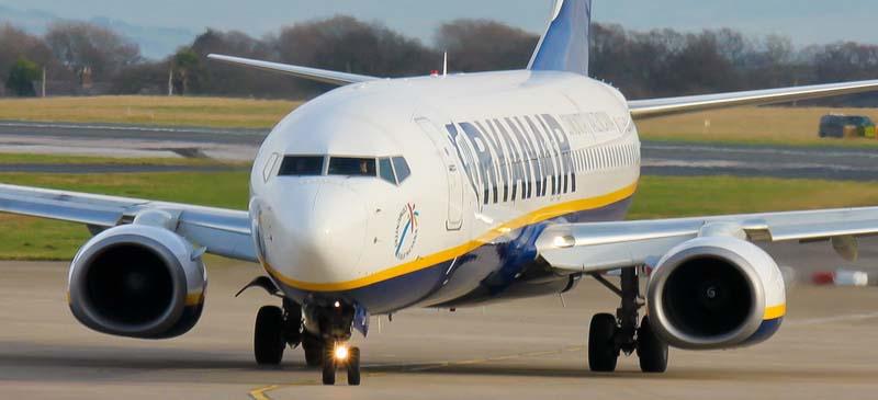 Hundreds of flights to Dublin... Ryanair