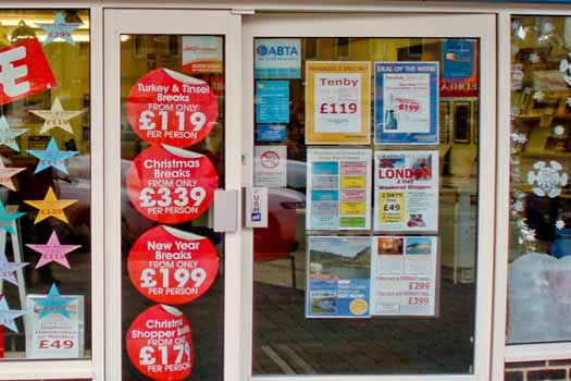 High street travel agents are not as popular anymore
