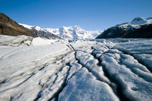 Svínafellsjökull glacier tongue, Iceland. Photo by Ben Husmann