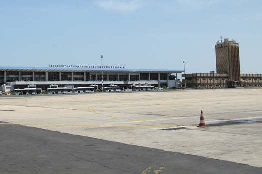 Léopold Sédar Senghor International Airport, formerly known as Dakar Yoff International Airport.