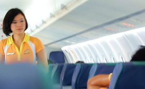 Flight attendant - Airline safety briefing