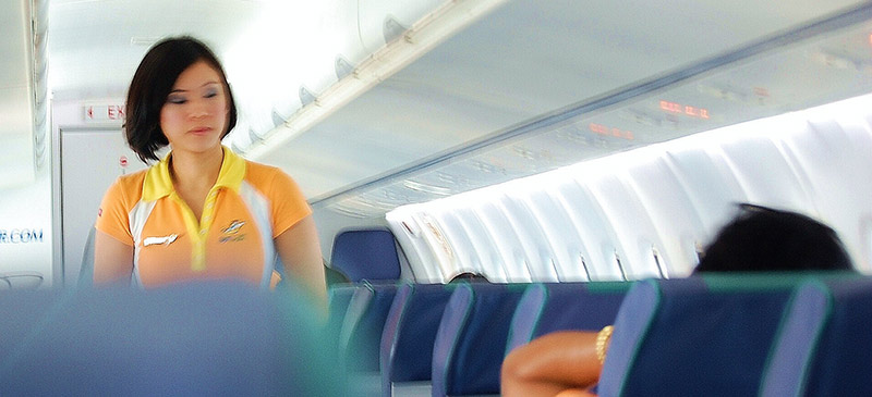 Flight attendant - Airline safety briefing