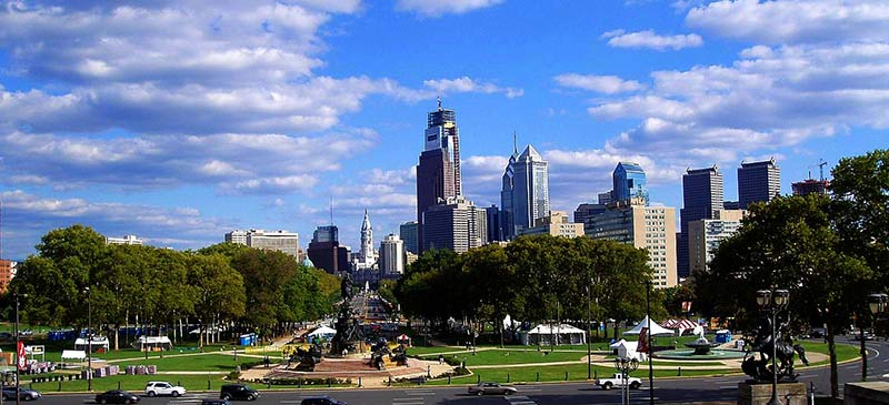 Philadelphia Art Museum to City Hall Philadelphia