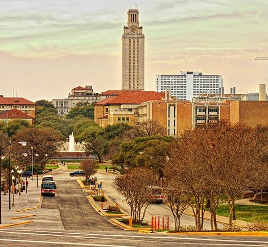 UT Austin America's greenest cities