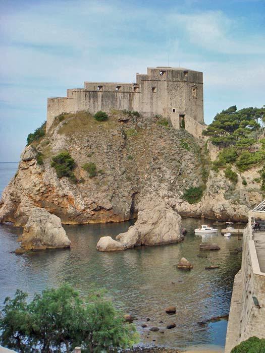 Fort Lovrijenac or St Lawrence Fortress, Dubrovnik. Photo by James Diggans