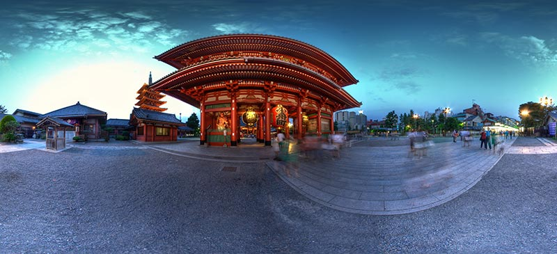 Senso-ji temple - Fisheye photography
