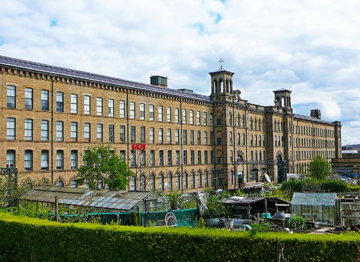 Salts Mill at Saltaire in West Yorkshire.