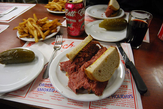 Smoked meat sandwich, Montreal
