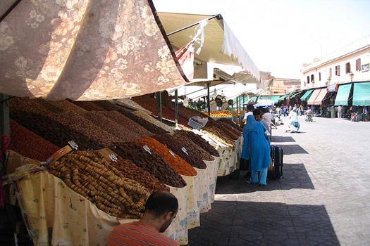 Souk in Marrakesh, Morocco