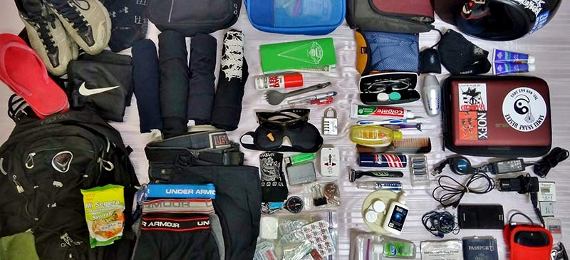 Backpack contents - 10 things not to pack on a long-term trip