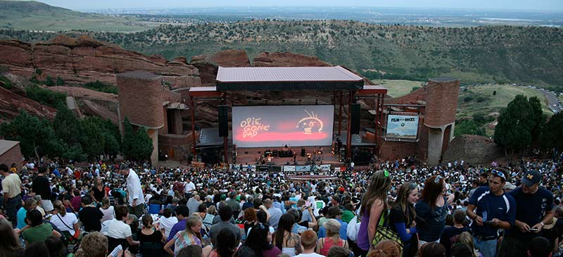 Red Rocks Amphitheatre - Pick of the outdoor movies this summer US
