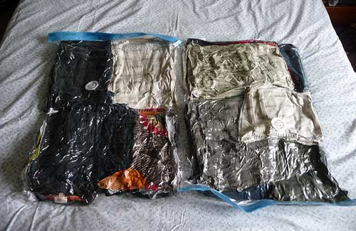 Compression bags can help you save space (Image: JodyDigger used under a Creative Commons Attribution-ShareAlike license)