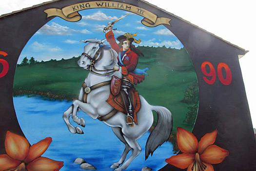 King William of Orange Mural, Belfast. Photo by Kara Segedin