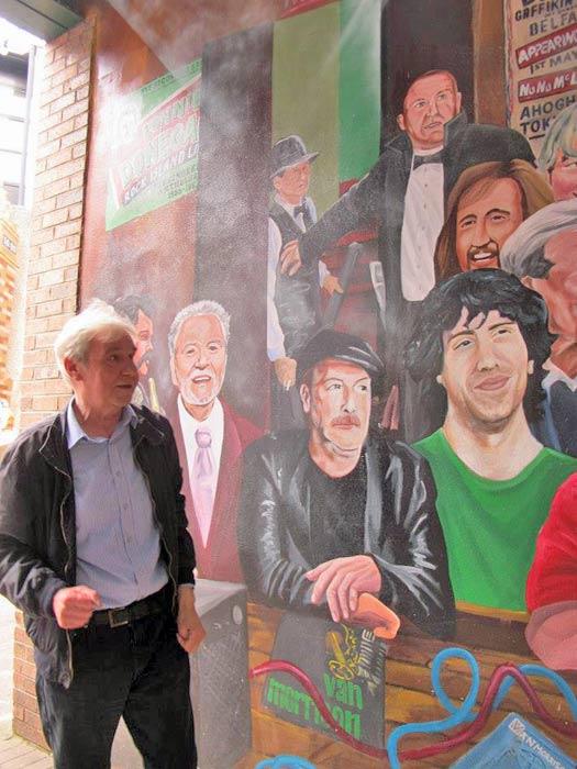 Belfast music legend Terri Hooley. Photo by Kara Segedin