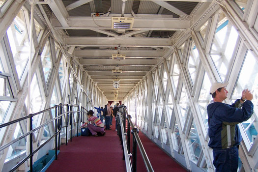 Tower Bridge viewing platform. Photo by Tammy Lo