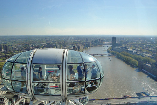 A London Eye Pod. Photo by australiaphotos.co.uk.