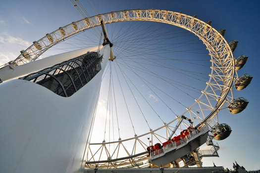 The London Eye from below. Photo by Greg Knapp