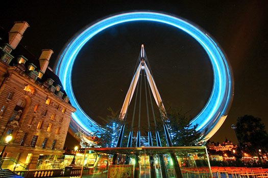 The London Eye by night. Photo by Al404