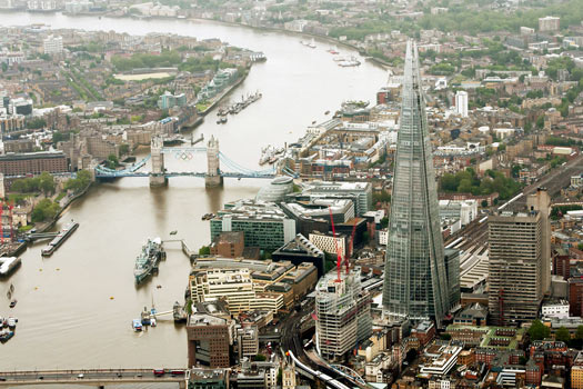 View of the Shard at London Bridge. Photo by estatesgazette