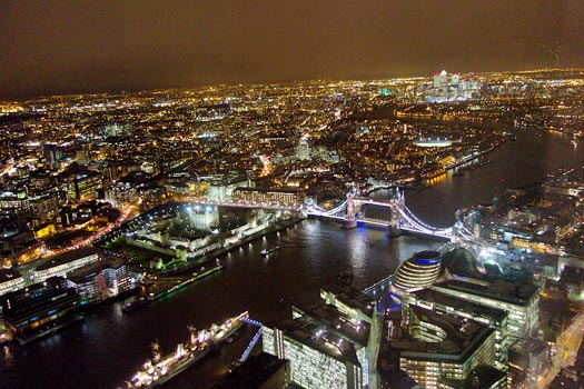 The Shard view by night. Photo by Stew Dean