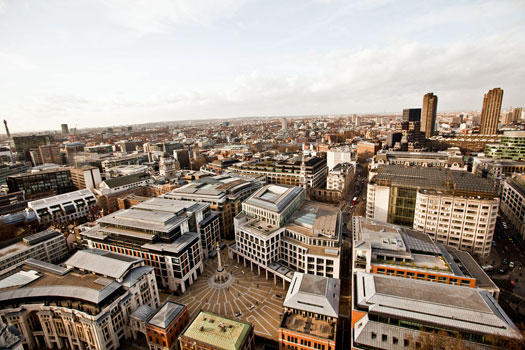 View from the Golden Gallery atop St. Paul's Cathedral. Photo by Tom Thai