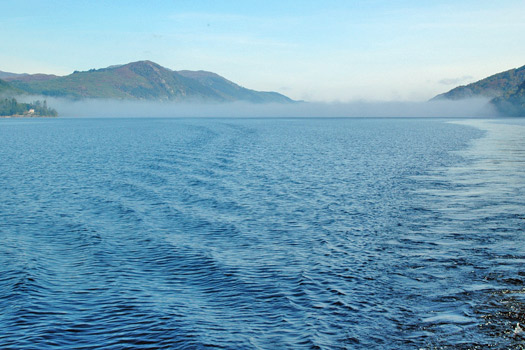 Cloud resting over Loch Ness. Photo by John Robinson