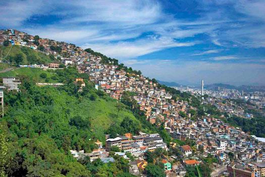 Favela, Rio de Janeiro. Photo by Kevin Jones