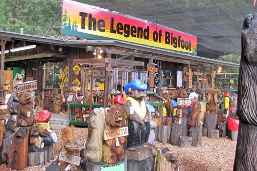 Bigfoot store: for all your Bigfoot needs. Photo by Brenna
