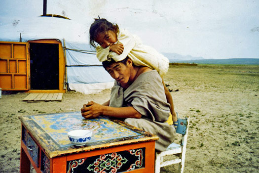 Mongolian family. Photo by Alec East