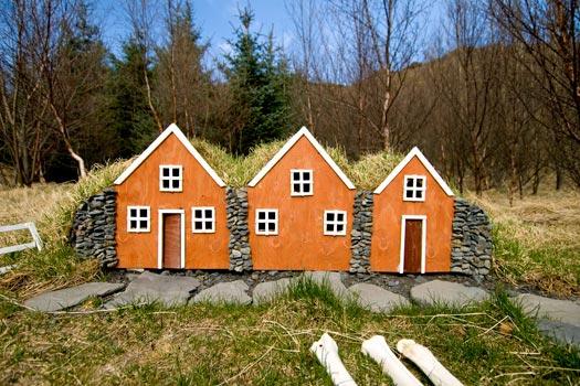 Elf Houses (álfhól) in Iceland. Photo by Ben Husmann