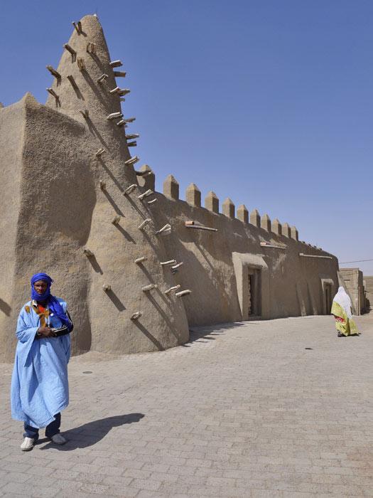 Mud mosque, Timbuktu, Mali. Photo by Gina Gleeson