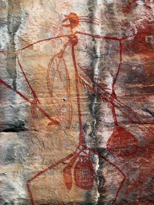 Rock art in Kakadu National Park. Photo by Luke Durkin