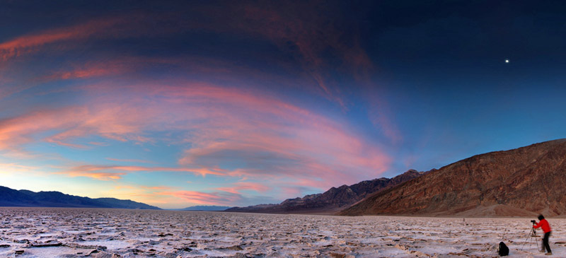 Hottest places on Earth. Badwater, Death Valley, California. Photo by John Fowler