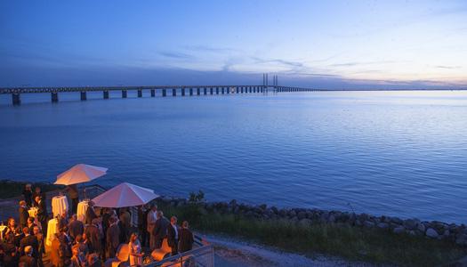 An evening view of the Øresund Bridge (Image: newsoresund)