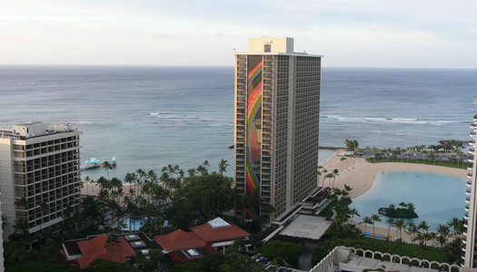 """A morning view from the Hilton Hawaiian Village where parts of """"Hawaii Five-O"""" are shot (Image: bsterling)"""