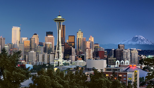 """The Seattle skyline, featured prominently in many """"Grey's Anatomy"""" episodes (Image: bala_)"""