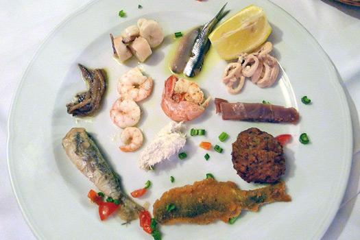 Dalmatian seafood platter. Photo by Taste of Croatia