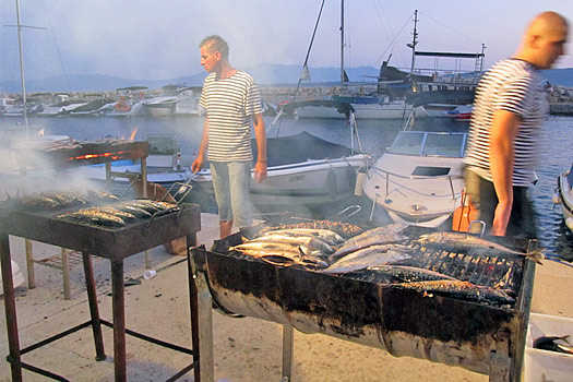 Gradele fish BBQ. Photo by Taste of Croatia