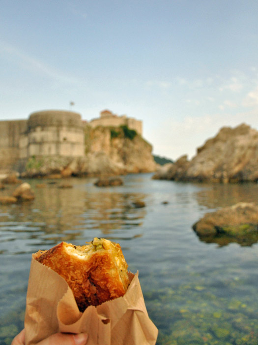 Burek in Dubrovnik. Photo by Jennifer Boyer
