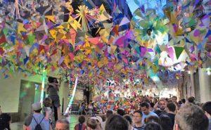 brilliant bright shots of La Festa Gracia