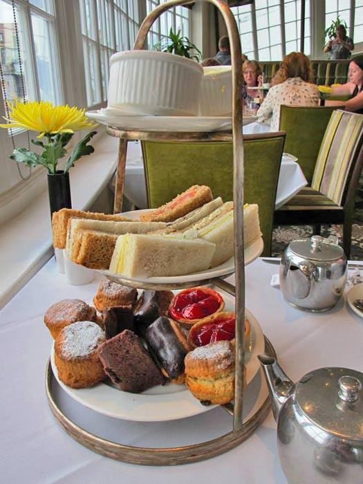 Afternoon Tea at the Sir Christopher Wren Hotel. Photo by Kara Segedin