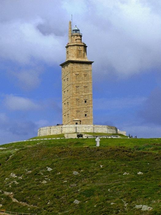 La Coruña. Tower of Hércules Lighthouse. Galicia. Spain