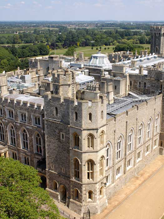View from the Round Tower, Windsor Castle. Photo by Royal Collection Trust © Her Majesty Queen Elizabeth II 2013