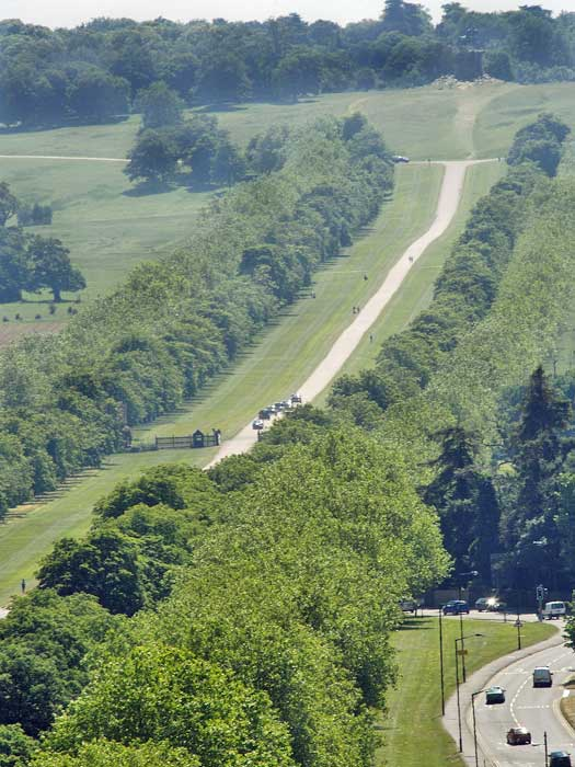 View of the Great Walk from the Round Tower, Windsor Castle. Photo by Royal Collection Trust © Her Majesty Queen Elizabeth II 2013