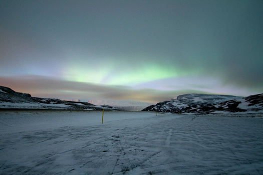 Aurora Borealis near Akureyri, Iceland. Photo by ToNG!?