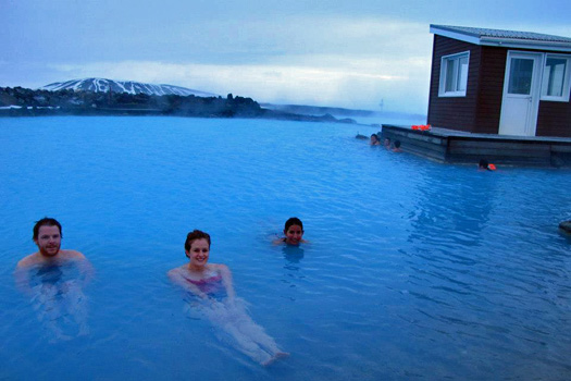 Chilling in Myvatn Nature Baths, Iceland. Photo by Kara Segedin